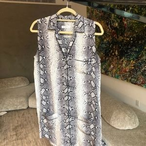 Equipment Snakeskin Sleeveless Mini Dress Size M